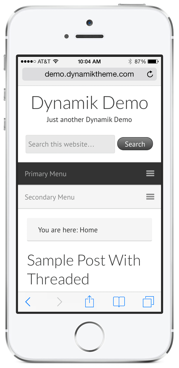 iPhone Dynamik 1.3 Demo Page