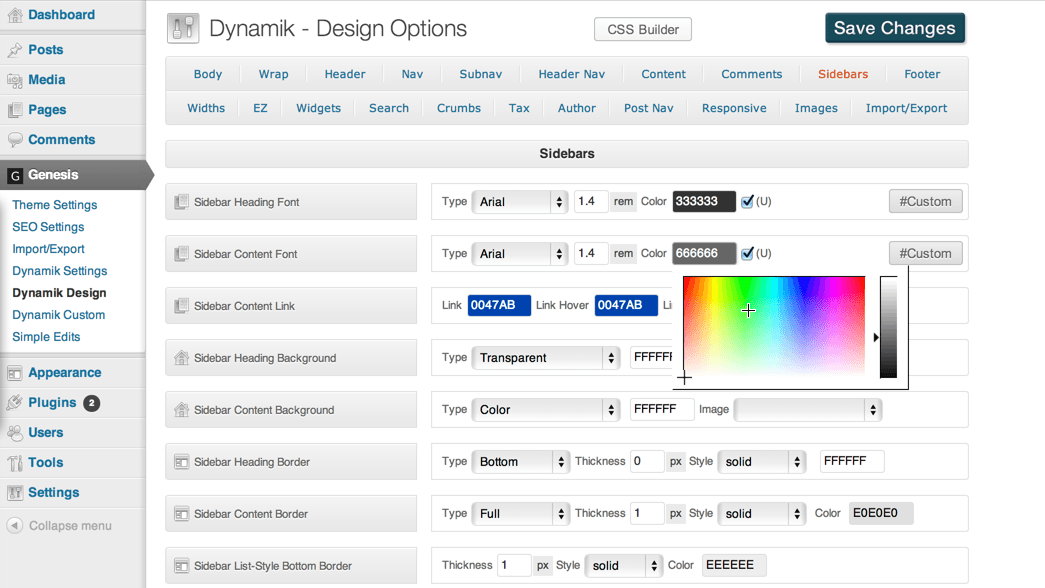 Dynamik Design Feature