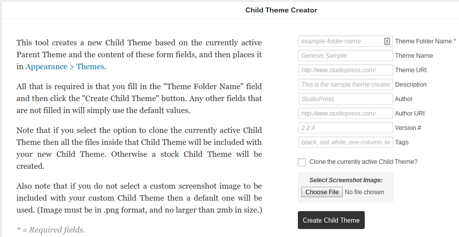 child-themer-child-theme-creator